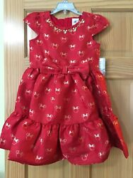 New Disney Store Minnie Mouse Icon Party Fancy Girls Dress Red Holiday Christmas $35.99