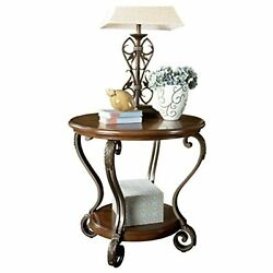 Signature Design by Ashley Nestor Traditional End Table Medium Brown $175.99