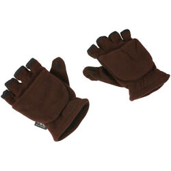 1 Pair Convertible Warm Mittens Thermal Insulation Fingerless for Winter $8.72