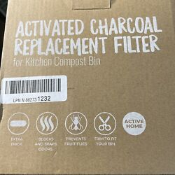 12 Pack Activated Charcoal Replacement Filters for Kitchen Compost Bin 6.5quot; $29.90