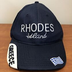 Rhodes Island Greece Hat Baseball Cap Mens Adult Blue Europe Vacation $14.00