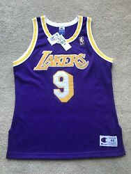 Nick Van Exel Lakers Authentic Jersey Champion Size 44 Purple Nba@50 Gold Logo $699.99