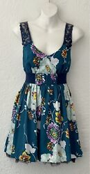 Free People Sleeveless Floral Cocktail Dress Sz 0 $25.00