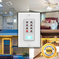 Wall Light Timer Switch 5 10 15 20 30 Minute 1 2 4 Hour Auto Countdown Outlet
