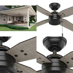 Plywood Ceiling Cool Fan Reversible Blades Downrod Mount Porch 3 Speeds 44 in $120.09