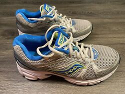Saucony Womens Wide Running Sneakers Blue Gray Yellow Size 8.5W 15166 1 Wide $30.00