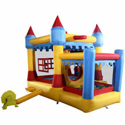 Goplus Inflatable Bounce House Castle Commercial Kids Jumper Moonwalk With Ball $35.00