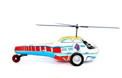 Vintage Lendulet Helikopter Tin Friction Police Helicopter Toy 14022 With Box $12.00