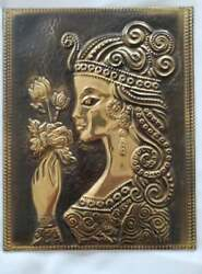 Industrial Wall quot;Princessquot; Metal Plate Decoration from Europe $30.00