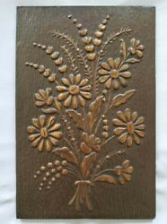 Pre Owned Industrial Wall Metal Plate quot;Flowerquot; Decoration from Europe $29.00