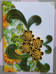 Handmade 3D Paper Quilling Greeting Cards Happy Birthday Valentine#x27;s Love wishes $3.99