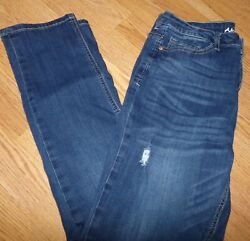 ALMOST FAMOUS JUNIOR SIZE 11 SKINNY STRETCH JEANS RIPPED DISTRESSED $16.11