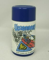Aladdin Vintage Thermos Only 1987 Visionaries Knights of Magic Blue Lid 6.5quot; #C $15.00
