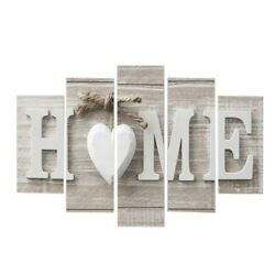 5 Pcs Concise Fashion Wall Paintings Home Letter Printed Photo Art Without Frame $13.99