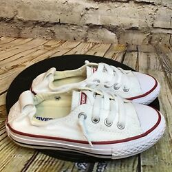 Converse All Star Kids White Short Lace Shoreline Low Sneakers Size 11 Toddler $24.47
