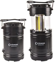 2 Pack Portable Outdoor Camping Lantern LED Torch Flashlight Water Resistant $14.53