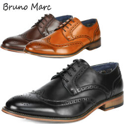 Bruno Marc Mens Dress Shoes Brogues Derby Shoes Formal Oxford Shoes Casual Shoes $31.49