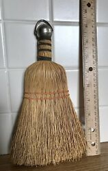 Vintage Wire Wrap Straw Whisk Broom Farmhouse Rustic Decor NICE $12.00