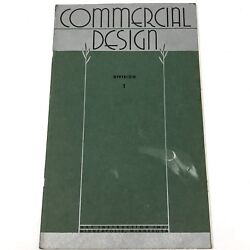 Vtg 1945 Art Instruction Inc Commercial Design Div 1 Drawing Textbook Art Deco