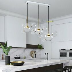 Modern Chandelier Dimmable LED Lamp Pendant Dining Room Glass Bubble Fixture Bar $349.59