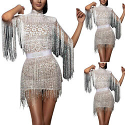 Women Sexy Tassel Casual Dress Beach Holiday Slim Fit Mini Evening Party Dresses $46.07