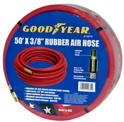 Goodyear 3 8 in. x 50 ft. Red Rubber Air Hose $28.80