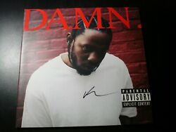 SIGNED KENDRICK LAMAR DAMN 2 LP RECORD SET RED COLOR VINYL WITH EXTRA COVER $100.00
