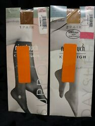 Nice Touch Knee High Stockings Hosiery Sears Size A Nude 2 Packs 3 Pairs Total $6.50