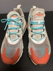 Nike Air Max 270 React Womens AT6174 200 Beige Chalk Running Shoes Size 8 $60.00