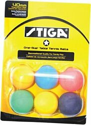 1 Star Assorted Multicolor Recreational Quality Regulation Size 40mm Table Tenn $12.33