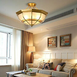 Tiffany Style Hanging Lamps Vintage Yellow Stained Glass Ceiling Lights Family $139.07