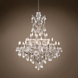 GATSBY LUMINAIRES 701610 009 19th c. Rococo Chandelier 25 Lght 41 Polished $2447.64