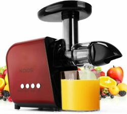 KOIOS Juicer Slow Masticating B 5100 Extractor with Reverse Function Quiet Motor $125.99