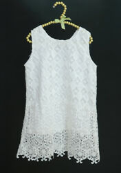 White Embroidered Girls Dresses with Blue Ribbon BSP0073 $26.00