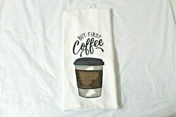 But First Coffee Kitchen Towel 15 X 25 Cotton Cup Mainstays Dish $8.95