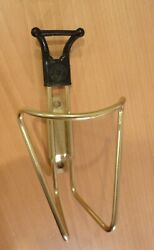 Cobra water bottle cage holder 1981 Italy Gold. Used. light. Bicycle