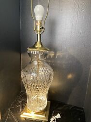 Luxury Crystal And Gold Table Urn Lamp Underwriters Laboratory $275.00