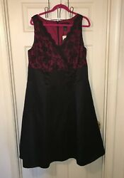 Lane Bryant LE Special Occasion Black amp; Red Cocktail Dress Size 20 Plus $58.50