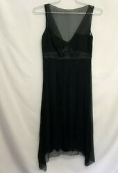 Elie Tahari NWT Sz 4 Black Silk Cocktail BALI Dress Sleeveless Fancy Party $20.00