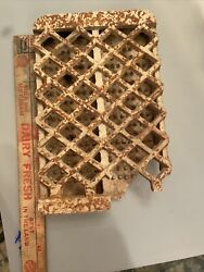 Unusual Double Vintage Ceramic Clay Brick Grate For Gas Heater Radiant...As Is $15.00