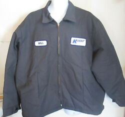 Kerry Mens Personalized WILL 3X gray Insulated Jacket Unifirst Work Uniform J142 $32.00