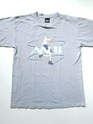 Vintage And 1 Basketball Graphic Logo Double Sided T Shirt Made USA Large Gray $24.99