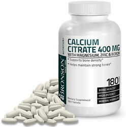 Bronson Calcium Magnesium with Boron and Zinc 180 Tablets $6.98