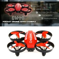 Cheerwing CW10 Mini RC Drone Wifi FPV Drone with 0.3MP Camera RC Quadcopter Red $27.98