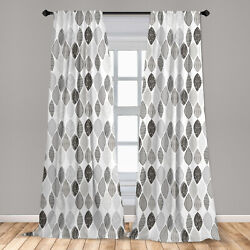 Grey Microfiber Curtains 2 Panel Set for Living Room Bedroom in 3 Sizes $23.99