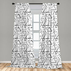 Modern Microfiber Curtains 2 Panel Set for Living Room Bedroom in 3 Sizes $23.99