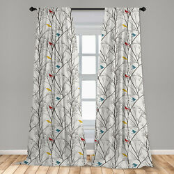 Birds Microfiber Curtains 2 Panel Set for Living Room Bedroom in 3 Sizes $26.99