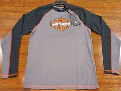 HARLEY DAVIDSON Long Sleeve TShirt Mens S Small HD Motorcycles Logo NEW with tag $22.99