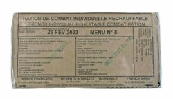 French MRE RCIR 24 hr ration Military Surplus Menu 5 BB2023. Ship from the USA $74.00