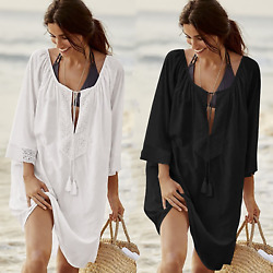 Womens Summer Kaftan Sarong Tops Bikini Bathing Cover Up Swimwear Beach Dress $17.00